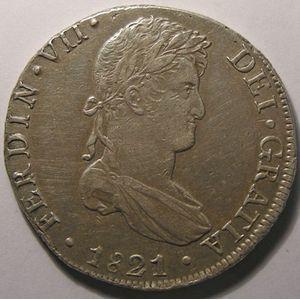 Photo numismatique Monnaies Etrangères Pérou 8 Reales