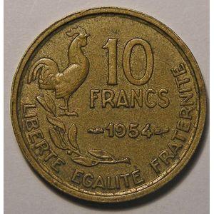 Photo numismatique Monnaies Françaises 10 Francs Gadoury 812. 10 Francs Guiraud