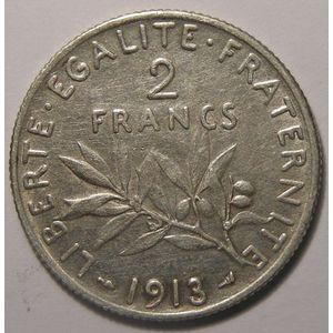 Photo numismatique Monnaies Françaises 2 Francs Gadoury 532. Semeuse en argent
