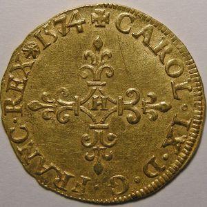 Photo numismatique Monnaies Royales Françaises CHARLES IX (1560-1574) Ecu d'or au soleil