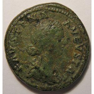Photo numismatique Monnaies Empire Romain FAUSTINE JUNIOR (épouse de Marc-Aurèle) As
