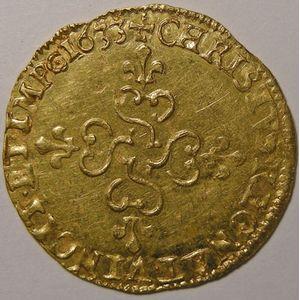 Photo numismatique Monnaies Royales Françaises LOUIS XIII (1610-1643) Ecu d'or au soleil