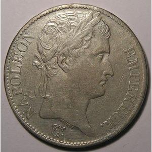 Photo numismatique Monnaies Françaises 5 Francs Gadoury 583. Napoléon Empereur
