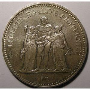 Photo numismatique Monnaies Françaises 50 Francs Gadoury 882a. Hercule avers 20 Francs