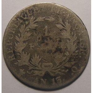 Photo numismatique Monnaies Françaises 1 Franc Gadoury 443. Napoléon Empereur, tête nue