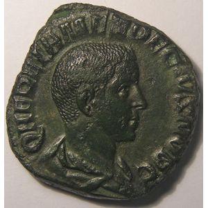 Photo numismatique Monnaies Empire Romain HERENNIUS (250-251) Sesterce