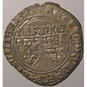 Photo numismatique Monnaies Royales Françaises HENRI VI (1422-1453) Blancs aux Ecus