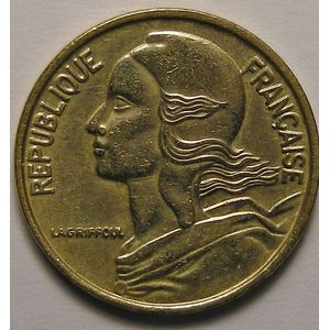 Photo numismatique Monnaies Françaises 5 Centimes Gadoury 175. Marianne