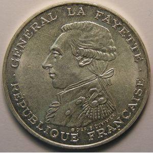 Photo numismatique Monnaies Françaises 100 Francs Gadoury 902. La Fayette