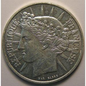 Photo numismatique Monnaies Françaises 100 Francs Gadoury 903. Fraternité