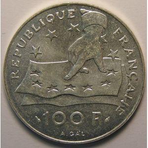 Photo numismatique Monnaies Françaises 100 Francs Gadoury 906. Descartes