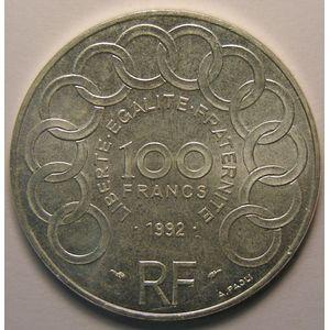 Photo numismatique Monnaies Françaises 100 Francs Gadoury 907. Jean Monnet