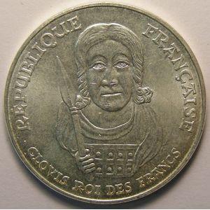 Photo numismatique Monnaies Françaises 100 Francs Gadoury 953. Clovis