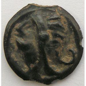 Photo numismatique Monnaies Gauloises Haute et moyenne seine Potin au taureau et au lys