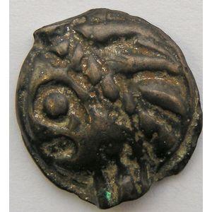 Photo numismatique Monnaies Gauloises Leuques Potin à la tête d'indien