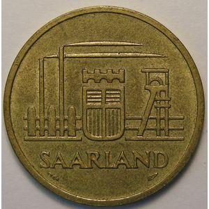 Photo numismatique Monnaies Etrangères Sarre 50 Franken