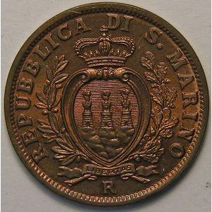 Photo numismatique Monnaies Etrangères Saint Marin 5 Centesimi