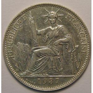 Photo numismatique Monnaies Etrangères Indochine 20 Cent