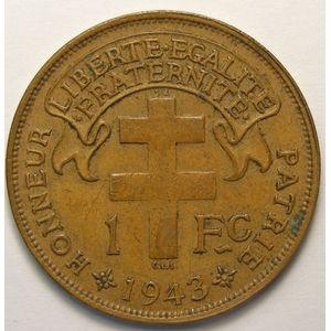 Photo numismatique Monnaies Etrangères Madagascar 1 Franc