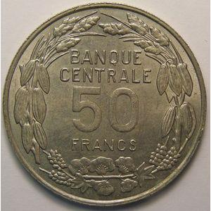 Photo numismatique Monnaies Etrangères Cameroun 50 Francs