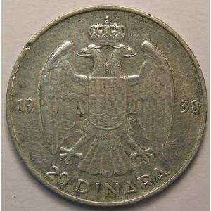 Photo numismatique Monnaies Etrangères Yougoslavie 20 Dinara