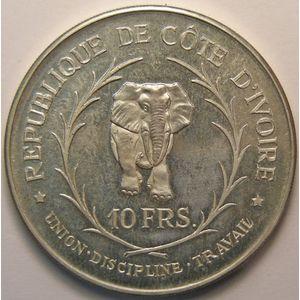Photo numismatique Monnaies Etrangères Côte d'Ivoire 10 Francs