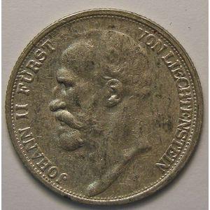 Photo numismatique Monnaies Etrangères Liechtenstein 1/2 Frank