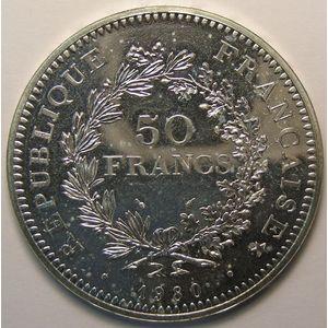Photo numismatique Monnaies Françaises 50 Francs Gadoury 882. Hercule