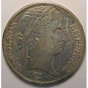 Photo numismatique Monnaies Françaises 5 Francs Gadoury 584.Napoléon Empereur tête laurée