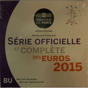 Photo numismatique Monnaies Euros France BU 2015