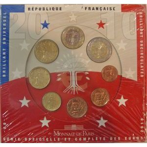Photo numismatique Monnaies Euros France BU 2010