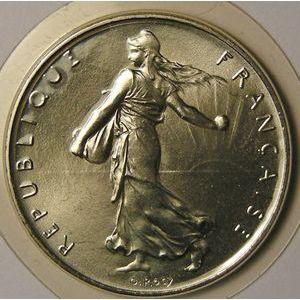 Photo numismatique Monnaies Françaises 1 Franc Gadoury 474. Semeuse