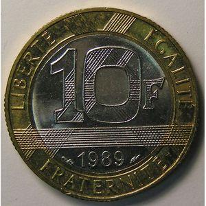 Photo numismatique Monnaies Françaises 10 Francs Gadoury 828. Montesquieu