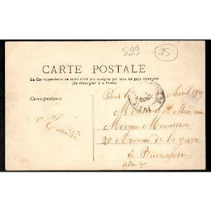 75 - PARIS (XXe Arrt) - Cours de Vincennes - Station du Métropolitain pris de l'Usine de Gaz