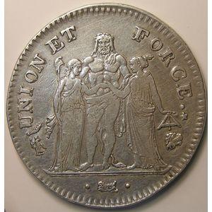Photo numismatique Monnaies Françaises 5 Francs Gadoury 563. Union et Force
