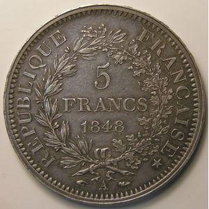 Photo numismatique Monnaies Françaises 5 Francs Gadoury 683. Hercule