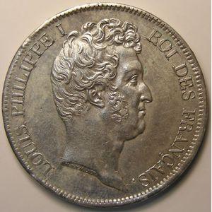 Photo numismatique Monnaies Françaises 5 Francs Gadoury 676. Louis-Philippe I tête nue