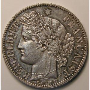 Photo numismatique Monnaies Françaises 2 Francs Gadoury 530. Cérès