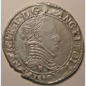 Photo numismatique Monnaies Royales Françaises Monnayage de la Ligue au nom d'Henri III Demi-Franc