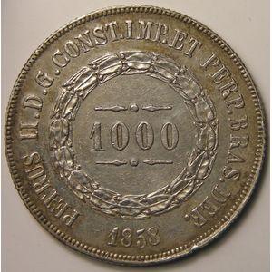 Photo numismatique Monnaies Etrangères Brésil 1000 Reis
