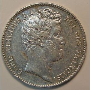 Photo numismatique Monnaies Françaises 1 Franc Gadoury 452. Louis-Philippe I, tête nue