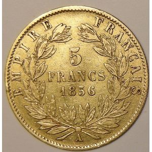 Photo numismatique Monnaies Françaises en or 5 Francs Or