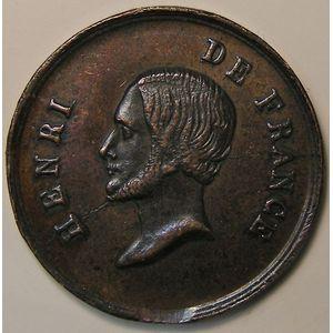Photo numismatique Monnaies Jetons et médailles Médaille d'Henri V