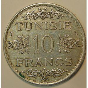 Photo numismatique Monnaies Etrangères Tunisie 10 Francs