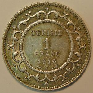 Photo numismatique Monnaies Etrangères Tunisie 1 Franc