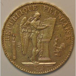 Photo numismatique Monnaies Françaises en or 20 Francs Or Gadoury: 1063. Génie