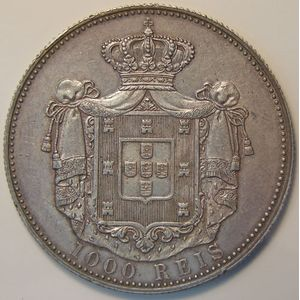 Photo numismatique Monnaies Etrangères Portugal 1000 Reis