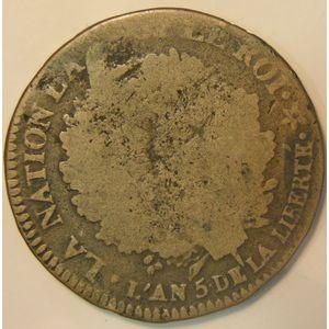 Photo numismatique Monnaies La Révolution 2 Sols Constitution (Français)