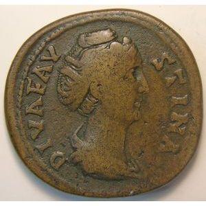 Photo numismatique Monnaies Empire Romain FAUSTINE SENIOR (Femme d'Antonin le Pieux) Sesterce
