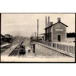 78 - MANTES SUR SEINE (Yvelines) - La Gare de Mantes - Station